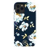 Kingxbar Blossom etui ozdobione oryginalnymi Kryształami Swarovskiego iPhone 12 Pro / iPhone 12 wielokolorowy (Gardenia)