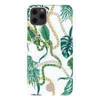 Kingxbar Luxury Series etui ozdobione oryginalnymi Kryształami Swarovskiego iPhone 11 Pro Max zielony
