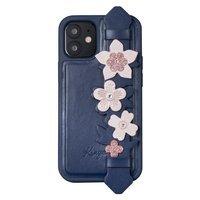 Kingxbar Sweet Series żelowe etui ozdobione oryginalnymi Kryształami Swarovskiego z podstawką iPhone 12 Pro Max niebieski