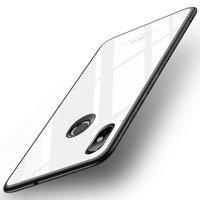 MSVII Tempered Glass Case etui pokrowiec nakładka ze szkła hartowanego Xiaomi Mi 8 SE biały