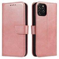 Magnet Case elegancki futerał etui pokrowiec z klapką i funkcją podstawki Samsung Galaxy A50s / Galaxy A50 / Galaxy A30s różowy