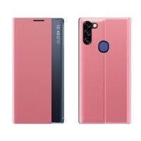 New Sleep Case pokrowiec etui z klapką z funkcją podstawki Samsung Galaxy A11 / M11 różowy