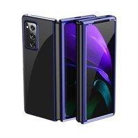Plating Case hard case pokrowiec etui z metaliczną ramką Samsung Galaxy Z Fold 2 5G niebieski