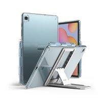 Ringke Fusion Combo Outstanding sztywne etui z żelową ramką do Samsung Galaxy Tab S6 Lite + samoprzylepna podstawka przezroczysty (FC447R39)