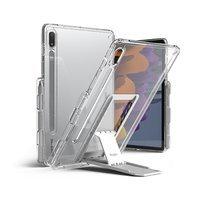 Ringke Fusion Combo Outstanding sztywne etui z żelową ramką do Samsung Galaxy Tab S7 11'' + samoprzylepna podstawka przezroczysty (FC475R39)