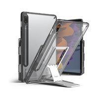 Ringke Fusion Combo Outstanding sztywne etui z żelową ramką do Samsung Galaxy Tab S7 11'' + samoprzylepna podstawka szary (FC475R40)