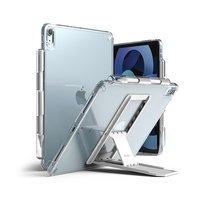 Ringke Fusion Combo Outstanding sztywne etui z żelową ramką do iPad Air 2020 + samoprzylepna podstawka przezroczysty (FC485R40)