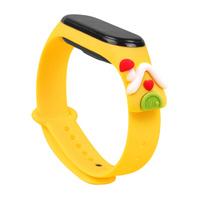 Strap Xmas opaska do Xiaomi Mi Band 6 / Mi Band 5 świąteczny silikonowy pasek bransoletka żółty (domek)