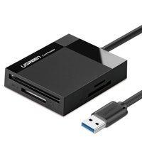 Ugreen czytnik kart pamięci USB 3.0 SD / micro SD / CF / MS czarny (CR125 30333)