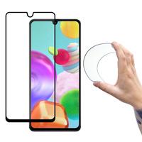 Wozinsky Full Cover Flexi Nano folia szklana szkło hartowane z ramką Samsung Galaxy A41 czarny