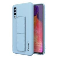 Wozinsky Kickstand Case elastyczne silikonowe etui z podstawką Samsung Galaxy A50 / Galaxy A30s jasnoniebieski