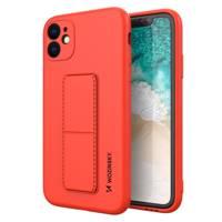 Wozinsky Kickstand Case elastyczne silikonowe etui z podstawką Samsung Galaxy A51 5G / Galaxy A51 czerwony