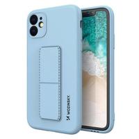 Wozinsky Kickstand Case elastyczne silikonowe etui z podstawką Samsung Galaxy A51 5G / Galaxy A51 jasnoniebieski