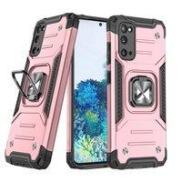 Wozinsky Ring Armor pancerne hybrydowe etui pokrowiec + magnetyczny uchwyt Samsung Galaxy S20 Ultra różowy