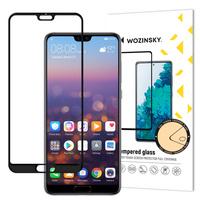 Wozinsky super wytrzymałe szkło hartowane Full Glue na cały ekran z ramką Case Friendly Huawei P20 Pro czarny