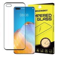 Wozinsky super wytrzymałe szkło hartowane Full Glue na cały ekran z ramką Case Friendly Huawei P40 czarny