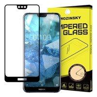 Wozinsky super wytrzymałe szkło hartowane Full Glue na cały ekran z ramką Case Friendly Nokia 7.1 czarny