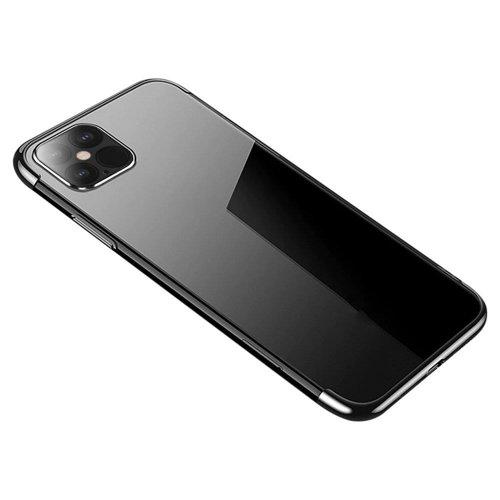 Clear Color case żelowy pokrowiec etui z metaliczną ramką Samsung Galaxy S21 Ultra 5G czarny
