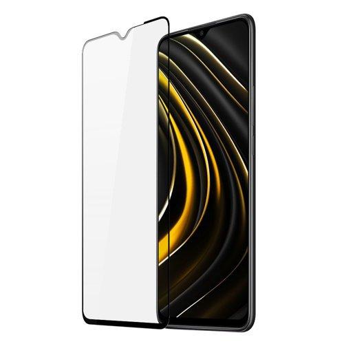 Dux Ducis 9D Tempered Glass wytrzymałe szkło hartowane 9H na cały ekran z ramką Xiaomi Poco M3 czarny (case friendly)