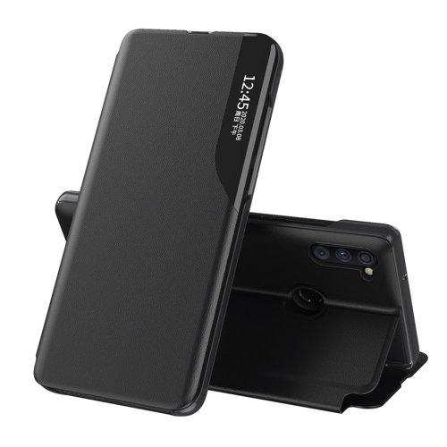 Eco Leather View Case elegancki futerał etui z klapką i funkcją podstawki Samsung Galaxy A11 / M11 czarny