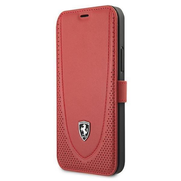 "Ferrari FEOGOFLBKP12LRE iPhone 12 Pro Max 6,7"" czerwony/red book Off Track Perforated"