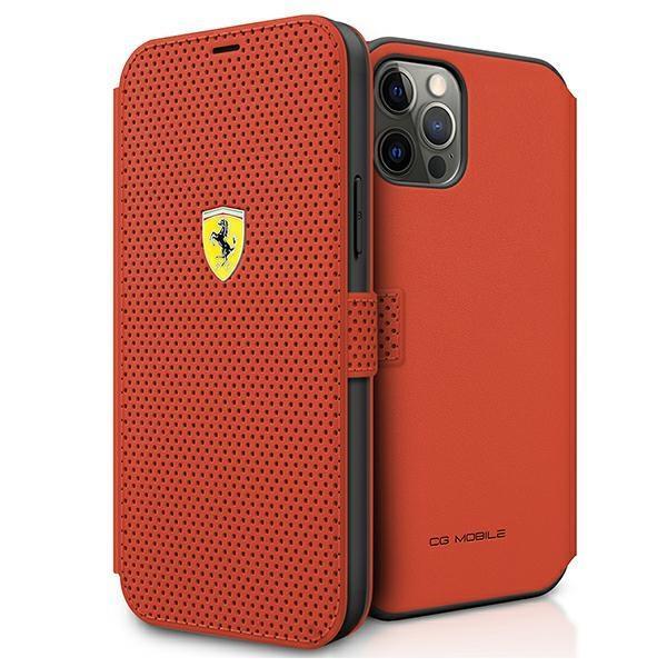 "Ferrari FESPEFLBKP12LRE iPhone 12 Pro Max 6,7"" czerwony/red book On Track Perforated"