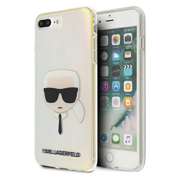 Karl Lagerfeld KLHCI8LPCKHML iPhone 7/8 Plus multicolor hardcase Iridescent Karl`s Head