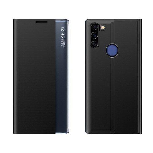 New Sleep Case pokrowiec etui z klapką z funkcją podstawki Samsung Galaxy A11 / M11 czarny