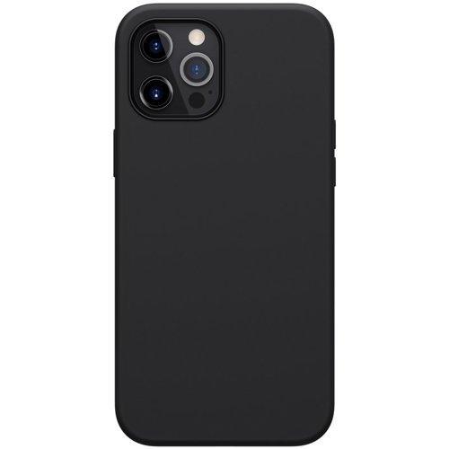 Nillkin Flex Pure Pro Case gumowe elastyczne silikonowe etui pokrowiec iPhone 12 Pro Max czarny (kompatybilny z MagSafe)
